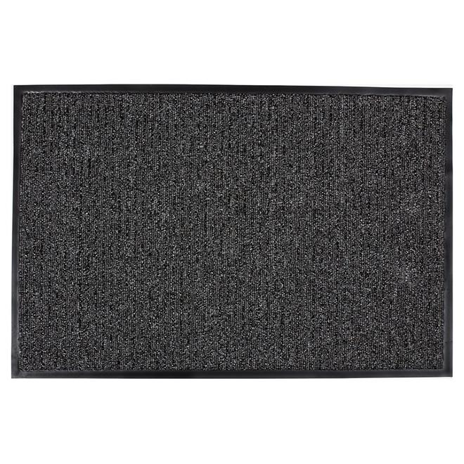 tapis en polyol fine pour int rieur et ext rieur gris fonc rona. Black Bedroom Furniture Sets. Home Design Ideas