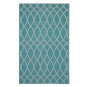 Exterior Rug - Reversible - Dune - 5' x 8' - Turquoise