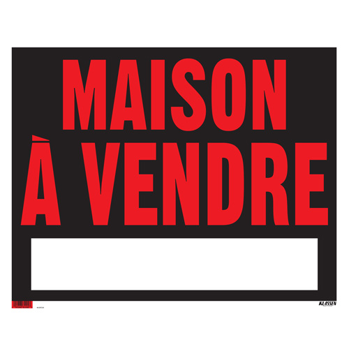 sign maison vendre sign rona. Black Bedroom Furniture Sets. Home Design Ideas