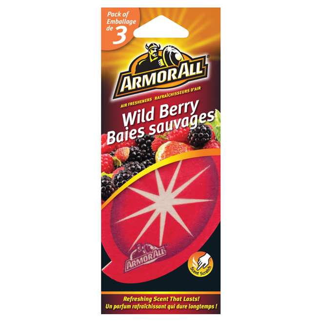 """Wild Berry"" Car Air Freshener, 3-Pack"