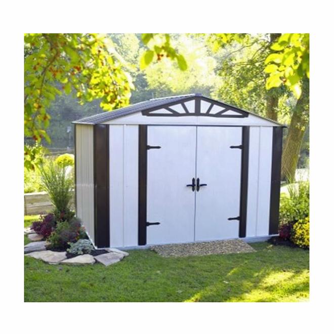 remise de jardin en acier galvanis 10 39 x 8 39 rona. Black Bedroom Furniture Sets. Home Design Ideas