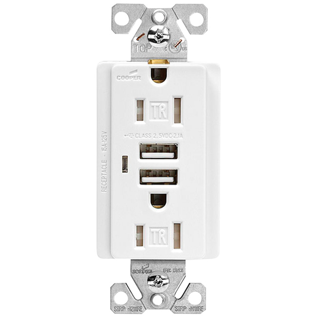 dual usb charger duplex receptacle rona. Black Bedroom Furniture Sets. Home Design Ideas