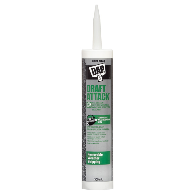 Draft Attack Latex Removable Sealant 300 ml - Clear