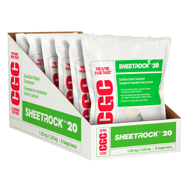 "Quick Set Chemical Joint Compound - ""Sheetrock 20"""