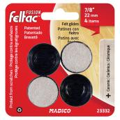 Fused-Felt Plastic Leg Tips - Round - Black - 7/8