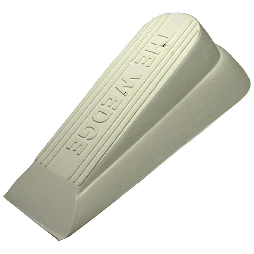 Rubber Wedge Door Stop - Almond
