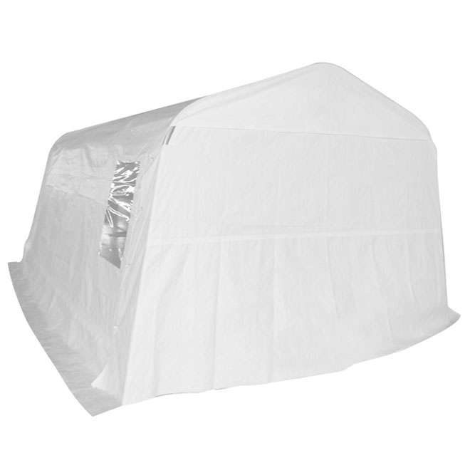 PVC Car Shelter - 11 x 20 x 8' - White