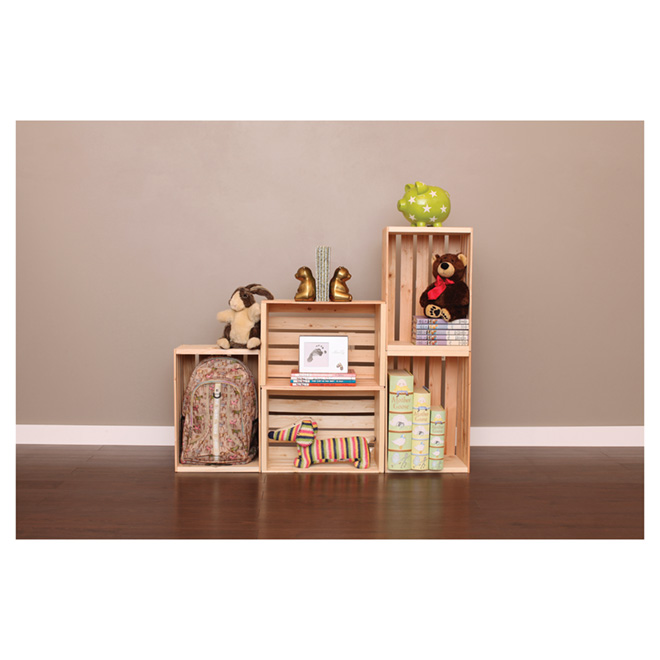 caisse de bois en pin naturel 17 5 x 12 5 x 9 5 rona. Black Bedroom Furniture Sets. Home Design Ideas