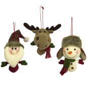 Plush Hanging Holiday Ornament - Polyester - 6.3