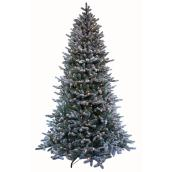 Illuminated Tree - Snow-Coated - 1923 Tips -7.5' - PVC - Green