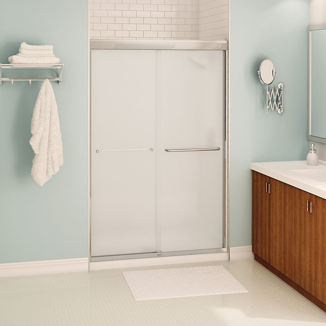 Porte de douche aura rona for Porte de douche rona