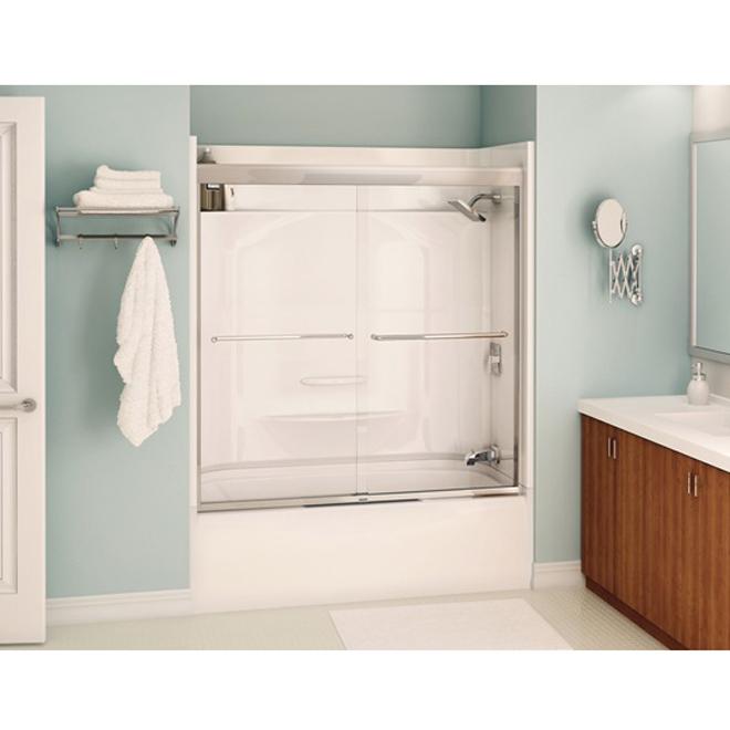 Porte pour bain douche aura rona for Bain et douche ensemble