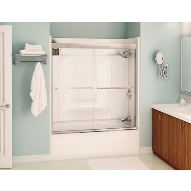 Porte pour bain douche aura rona for Porte de douche pour baignoire