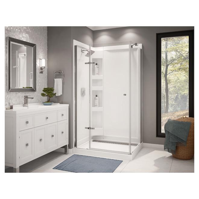 ensemble de douche en coin athena 42 po x 34 po rona. Black Bedroom Furniture Sets. Home Design Ideas