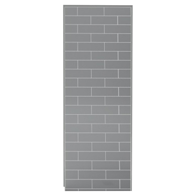 UTile Shower Wall Panel - Metro - Ash Grey - 48""