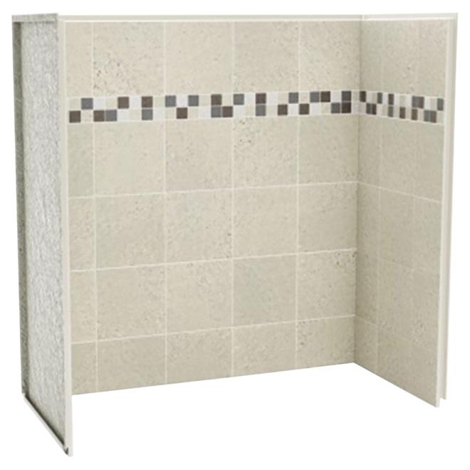 Panneau de bain douche en u stone sahara rona for Fenetre 75x60