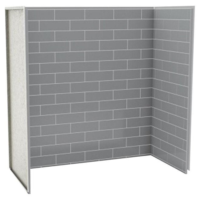 Panneau de bain douche en u metro gris cendre rona for Fenetre 75x60