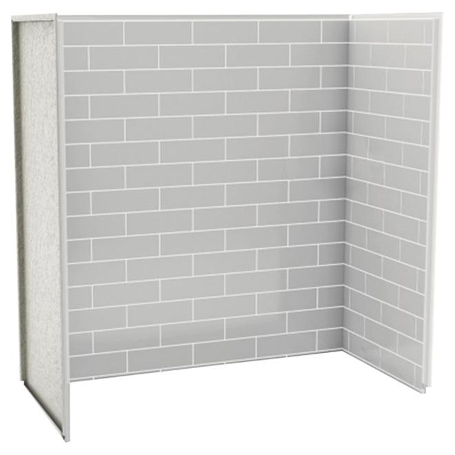 panneau de bain douche en u metro gris doux rona. Black Bedroom Furniture Sets. Home Design Ideas