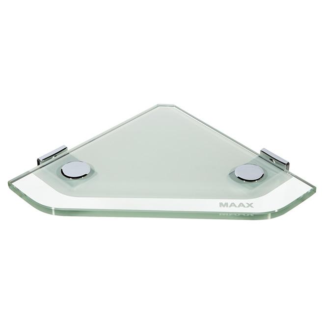 Tablette de coin en verre pour la douche rona for Tablette de verre salle de bain