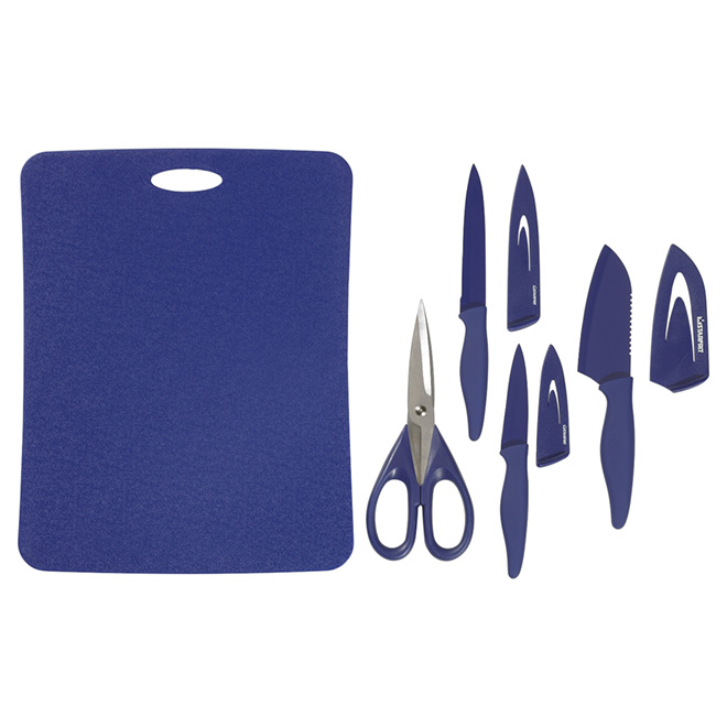 Cutting Board, Knives and Scissor Set