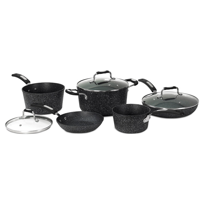 """The Rock"" Kit of 8 Pots and Pans with Lids"