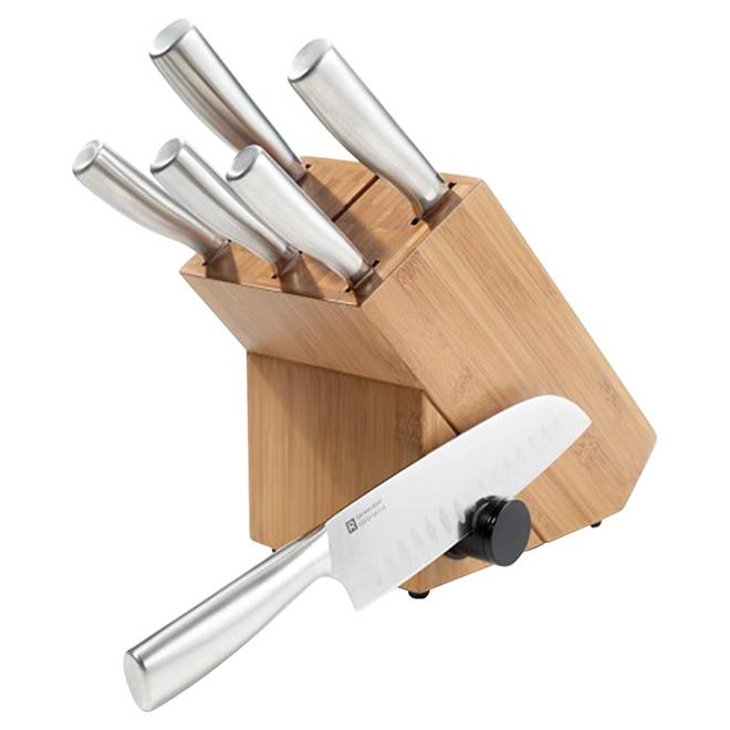 Ensemble bloc et couteaux ricardo 8 pi ces rona - Ustensiles de cuisine ricardo ...