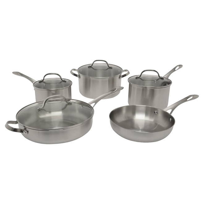 Ricardo 9-Piece Stainless Steel Cookware Set