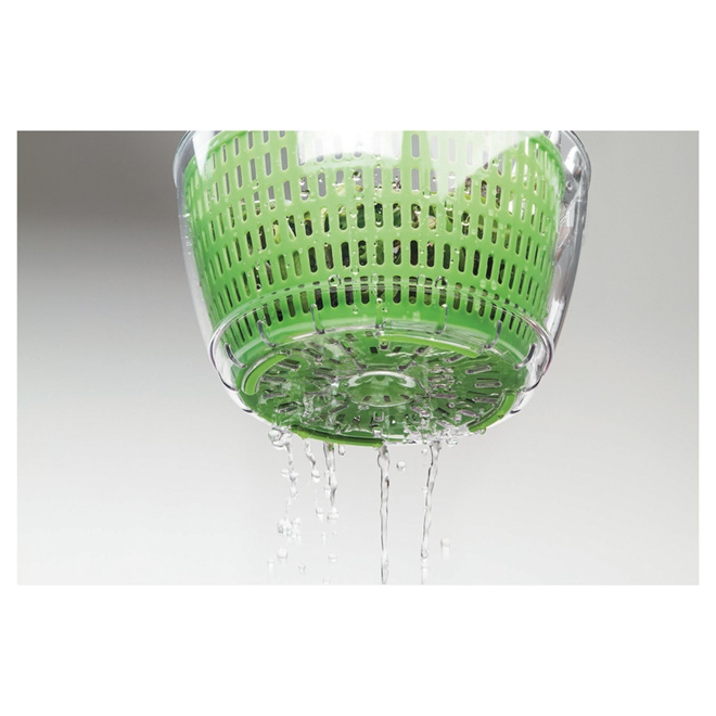 Salad Spinner - Plastic - 3.3 L - Green/White