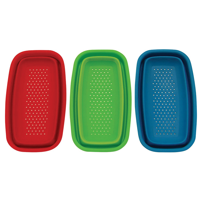 Mini Collapsible Colander- Polypropylene - Assorted Colors
