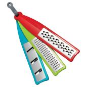 Hand Grater Set - 3 pieces - ABS/TPE - Red/Blue/Green