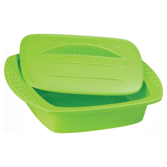 Square Silicone Steamer - 42 oz  - Assorted Colors