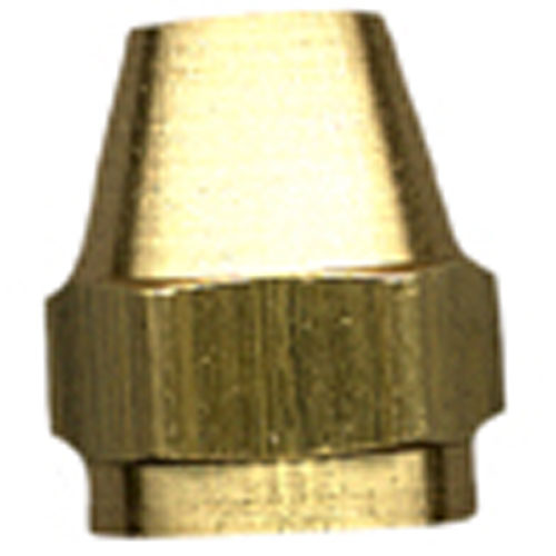 Short Rod Flare Nut - Brass - 45° - 3/8""