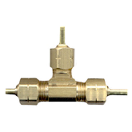 "T-Fitting - Brass - 1/4"" x 1/4"" x 1/4"" - Tube"