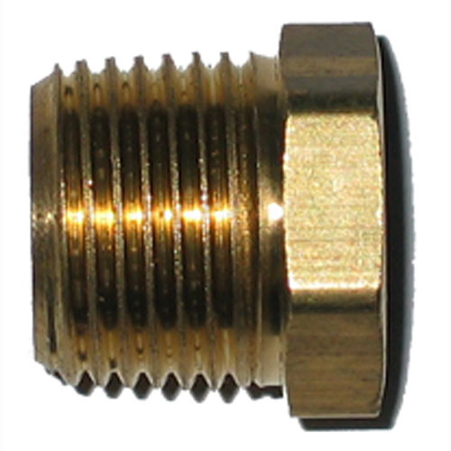 "Hex Bushing - Brass - 3/8"" x 1/4"" - MIP x FIP"