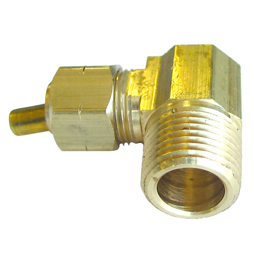 "Elbow - Brass - 90° - 3/8"" x 3/8"" - Tube x MIP"