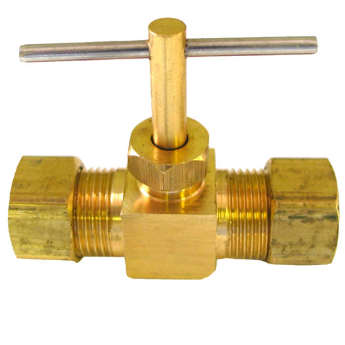 Compression Straight Needle Valve - Brass - 3/8''