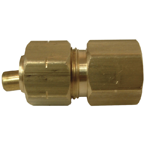 "Coupling - Brass - 1/4"" x 1/4"" - Tube x FIP"