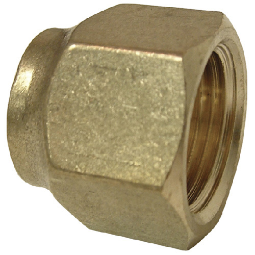 Short Forged Flare Nut - Brass - 45° - 1/2""