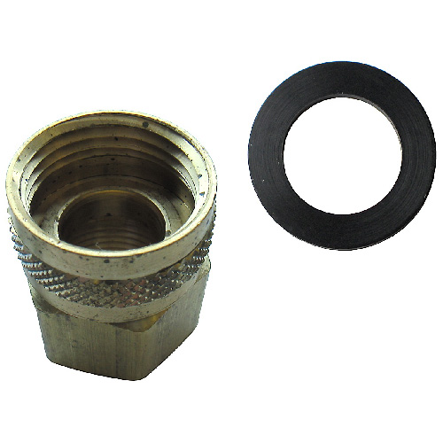 "Hose Connector - Brass - 3/4"" x 1/2"" - Female x FIP"