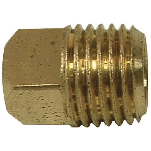 "Plug - Brass - Square Head - 1/8"" - MIP"