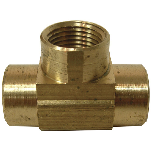 "T-Fitting - Brass - 3/8"" x 3/8"" x 3/8"" - FIP x FIP x FIP"