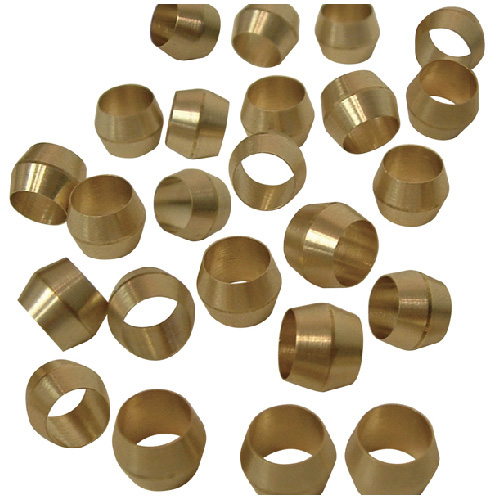 Compression Sleeves - Brass - 3/8""