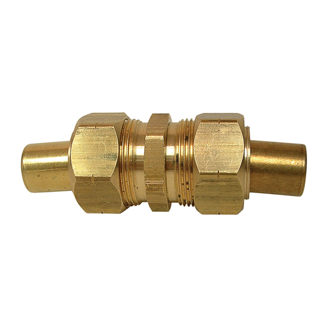 "Union - Brass - 1/4"" x 1/4"" - Tube x Tube"