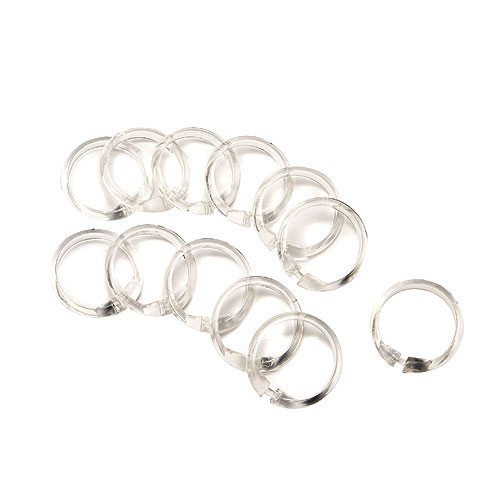SHOWER CURTAIN RINGS PK/12