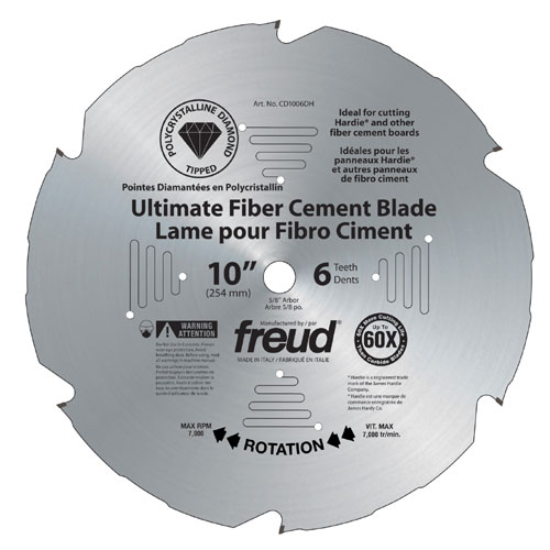 Ultimate fiber cement blades