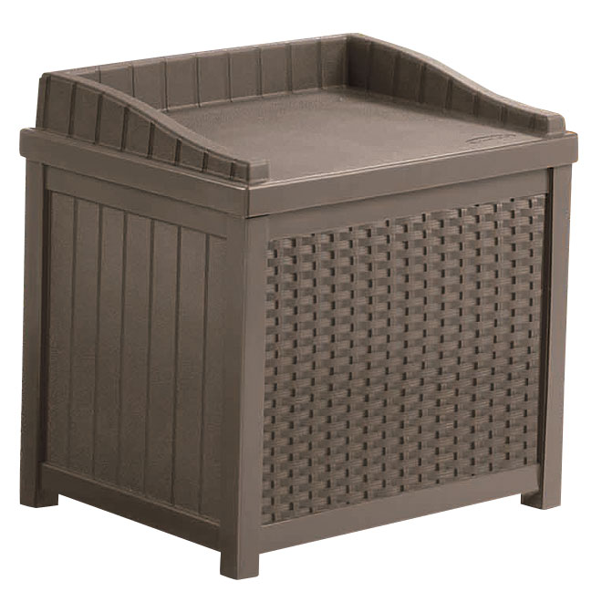 Banc d 39 entreposage ext rieur 22 gal brun rona for Entreposage de meuble