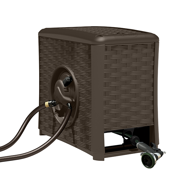 Touch Amp Go Automatic Hose Reel 125 Capacity Brown Rona
