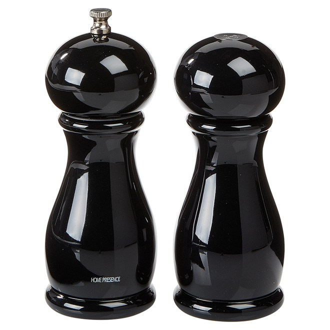 Salt and Pepper Mills - 15 cm - ABS/Ceramic - Black