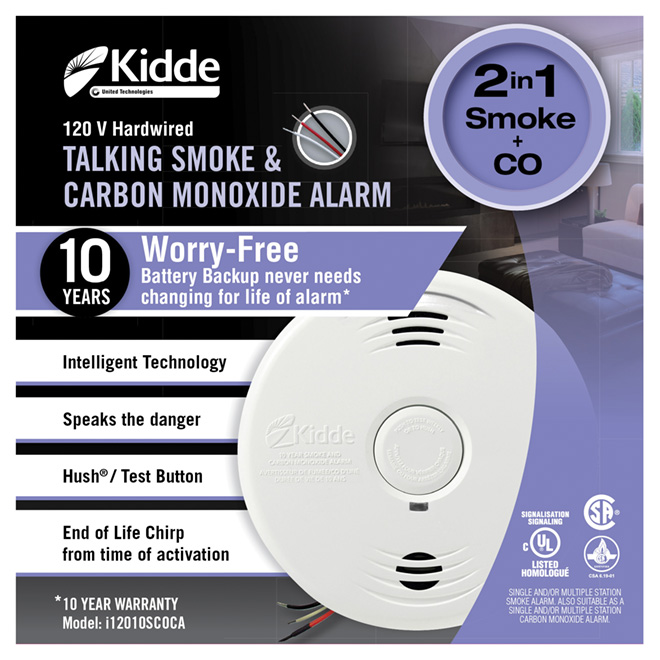 """Talking"" Hardwired Smoke/Carbon Monoxide Alarm"