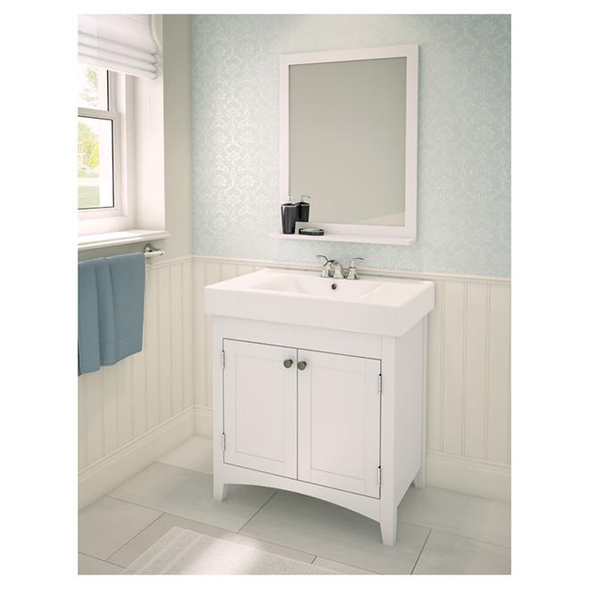 "Bathroom Sinks Rona bathroom sink vanity with reversible doors - white - 29"" | rona"